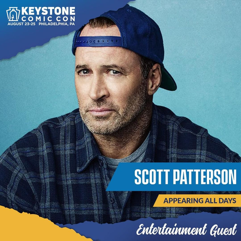 Scott Patterson, best known as Luke Danes of Gilmore Girls and Agent Strahm of the SAW movies, appears at the Keystone Comic Con August 23-25 2019 in Philadelphia, PA