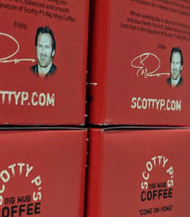 Scott Patterson's (Luke Danes) Scotty P's Big Mug Coffee Kcups Breakfast Blend and French Roast