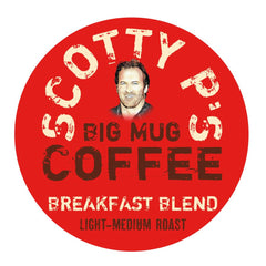 AVAILABLE EXCLUSIVELY AT AMAZON.COM - Scott Patterson's Scotty P's Big Mug Coffee Breakfast Blend K Cups - 18 count