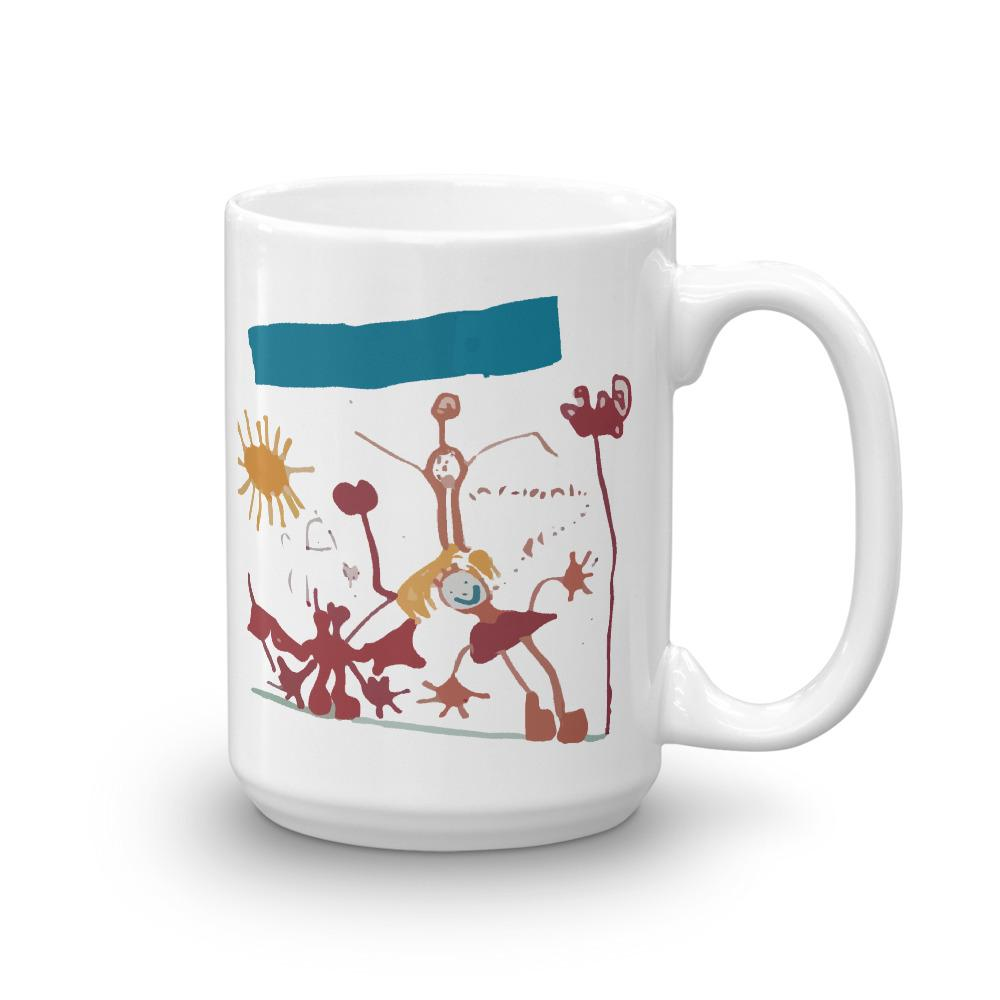 'Malibu Beach Family Portrait' Mug - 15 oz.
