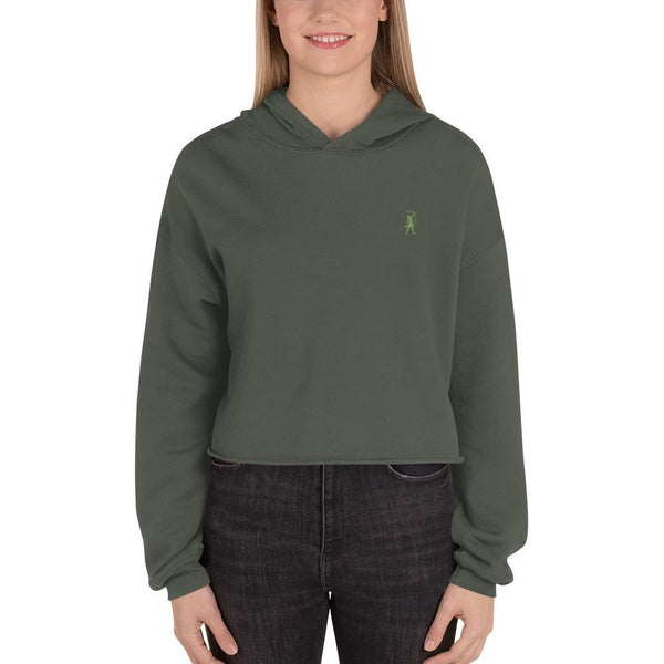 Artemis Embroidered Logo Crop Hoodie - Available in 4 colors