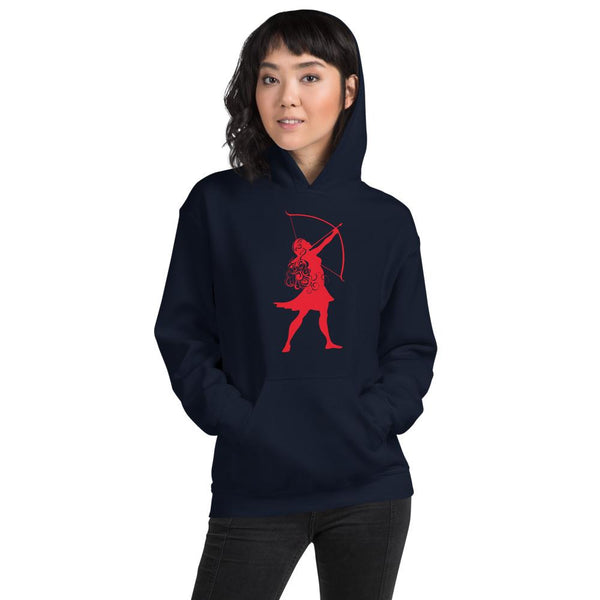 Scotty P Unisex Hoodie with Printed Archer logo - Available in 11 colors