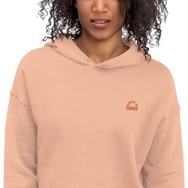 Scotty P Embroidered Logo Crop Hoodie - Available in 4 colors