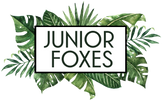 Junior Foxes Canadian ring slings/ baby slings tropical logo