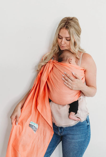 MomsToronto Momboss ring sling collaboration with Junior Foxes handmade in Toronto babycarriers