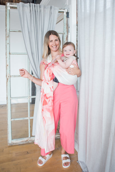 Love Powered Co x Junior Foxes collaboration, Handmade in Toronto, Canada baby carriers ring slings