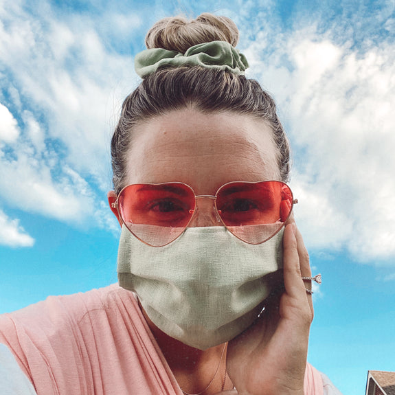 Barbuda Mask + Scrunchie Set