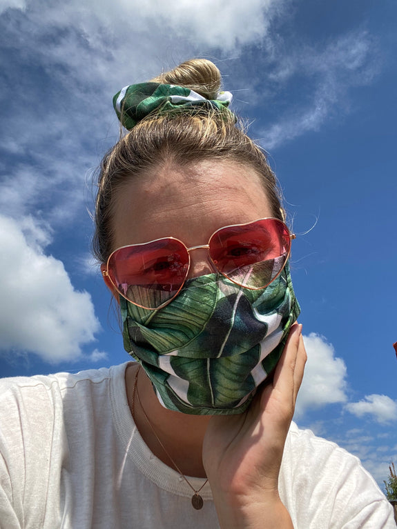 Palms Mask + Scrunchie Set
