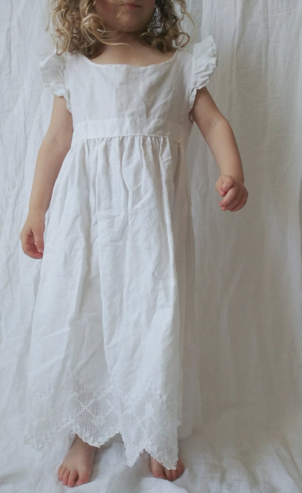 Linen Dress - Ribbon tie back