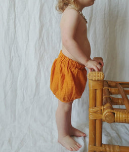 Rust Muslin Bloomer Short