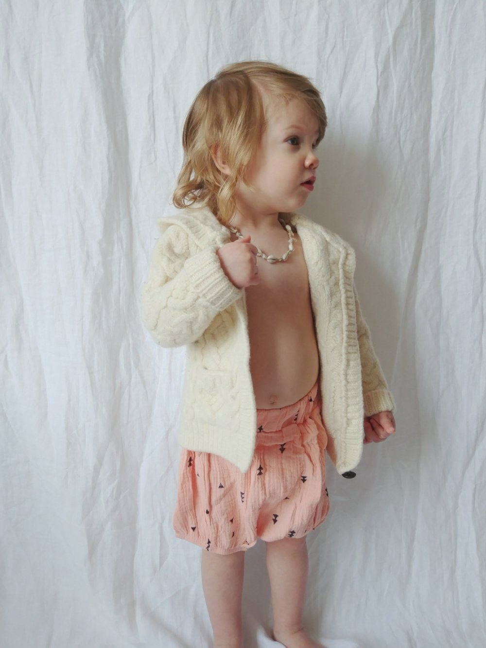 Peach/Black Triangle Muslin Bloomer Short