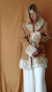 Faux Fur/Genuine Leather Penny Lane