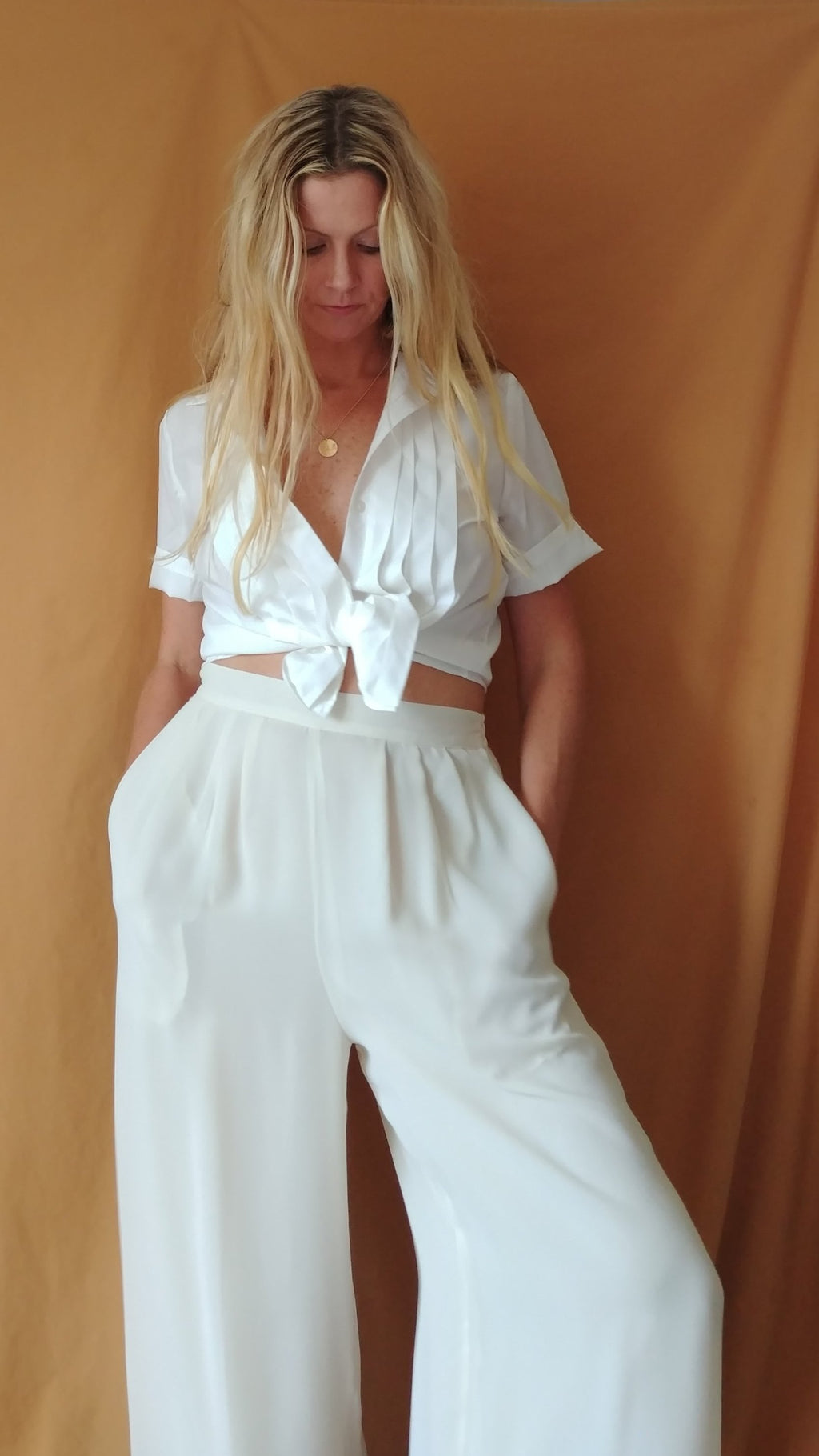 Vintage Ribbed Blouse