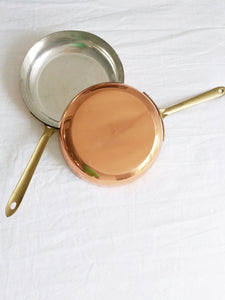 Copper Pans with Gold Handle - Set of 2