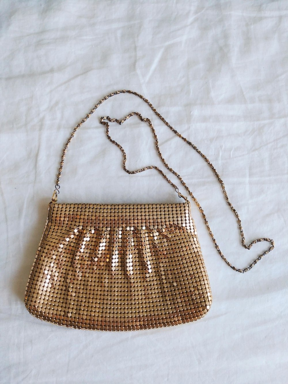 Vintage Gold Mesh and Chain Purse