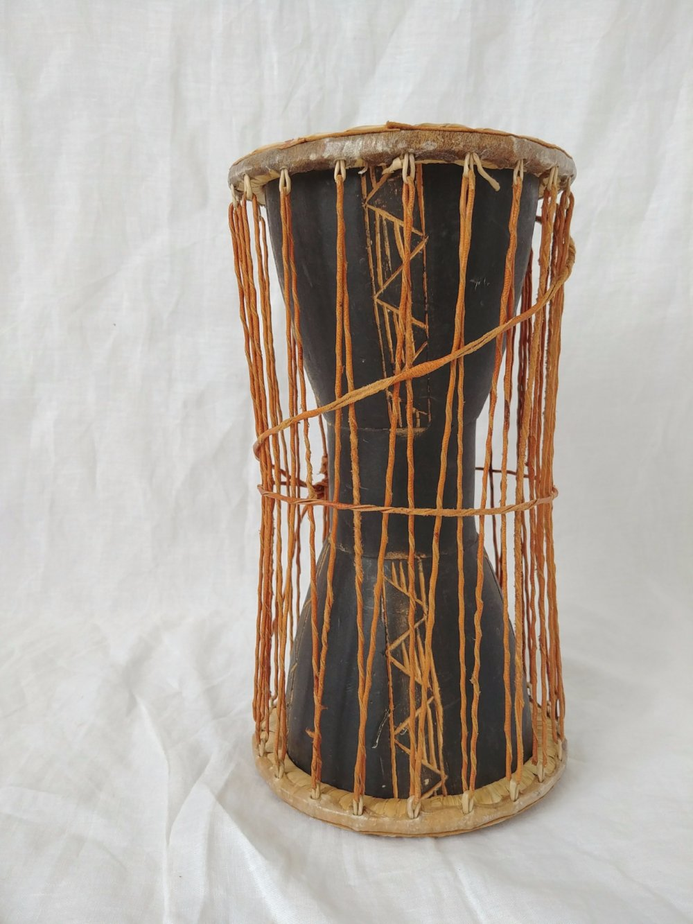 Vintage Rawhide/ Wood Carved Drum