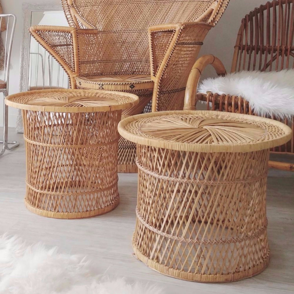 Wicker Table/Plant Stand