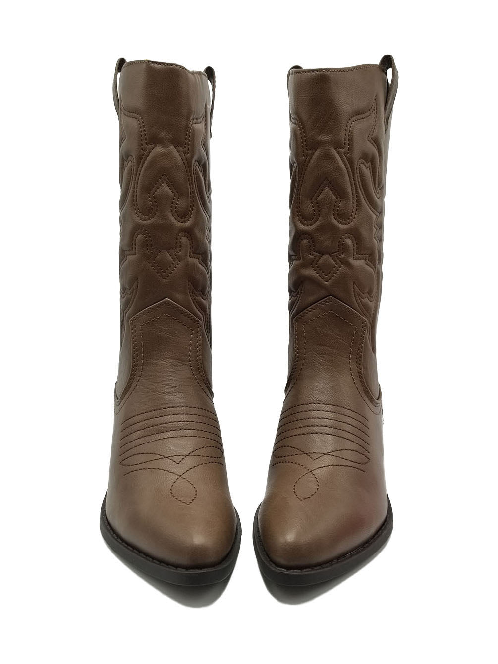 de1d7ca8805 Women Western Cowboy Pointed Toe Knee High Pull On Tabs Boots RENO-S