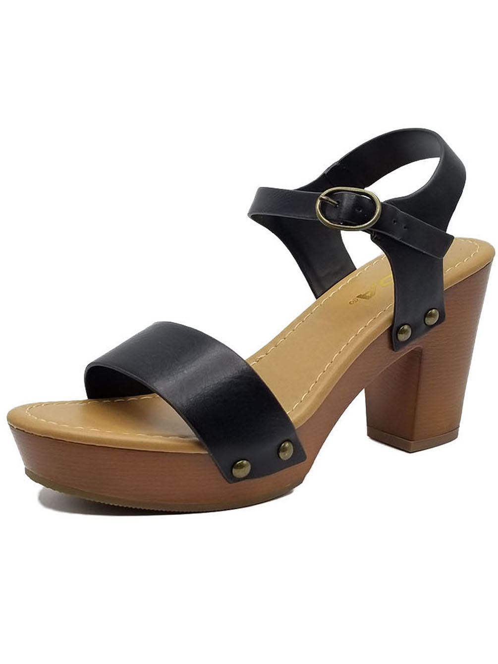 UHAVITCOM Kid Dress Sandals Buckled Ankle Strap Low Heels Refine-IIS