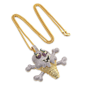 14k iced out gold cherry ice cream pendant gold waves 14k iced out gold cherry ice cream pendant aloadofball Gallery
