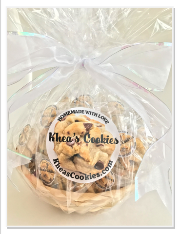 Wrapped Gift Basket --  COMBO:  Seasonal Cookie & Chocolate Chip Delight