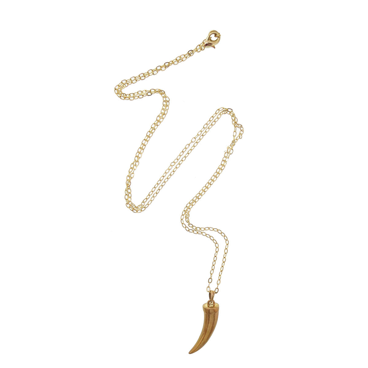 Long Bronze Tusk Necklace