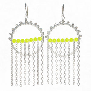 Yellow Strand Hoops
