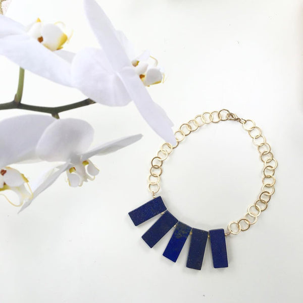 Lapis Party Necklace
