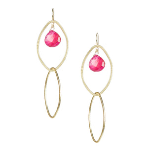 Pink Chalcedony Party Earrings
