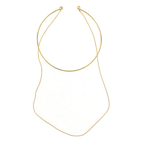 Gold Party Choker Necklace