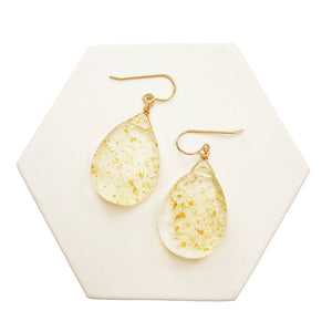 Gold Flake Teardrop Earrings