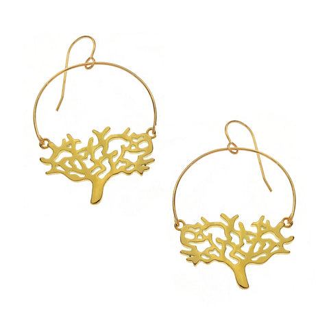 Tree of Life Hoop Earrings