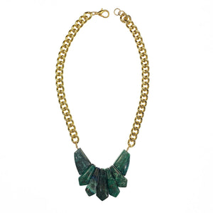 Azurite Malachite Statement Necklace