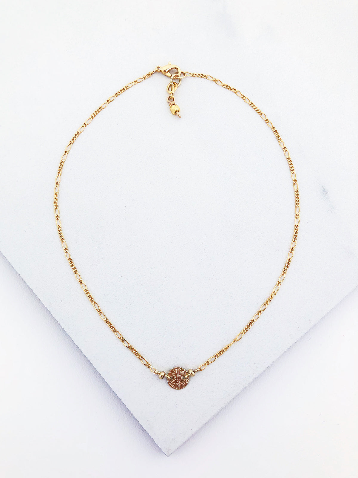 Textured Single Coin Choker