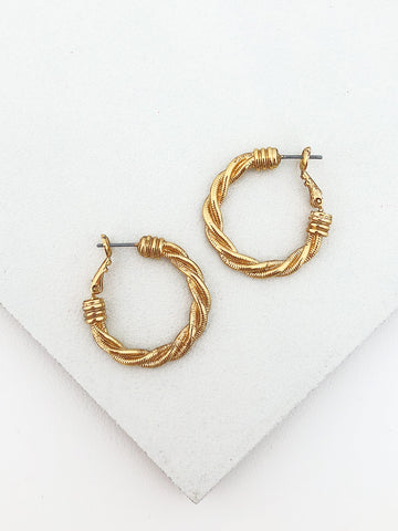Twisted Rope Hoops