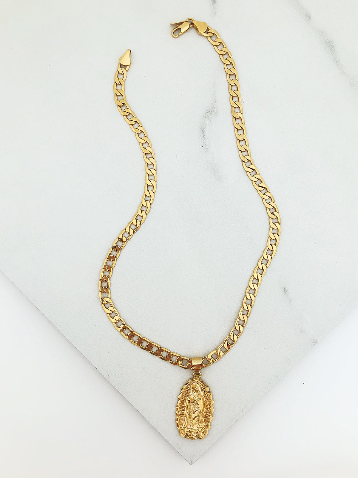 Cuban Link Mary Necklace