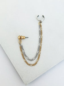Silver and Gold Ear Cuff