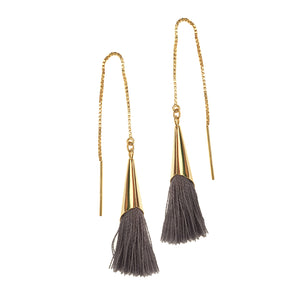 Gray Astor Threader Earrings