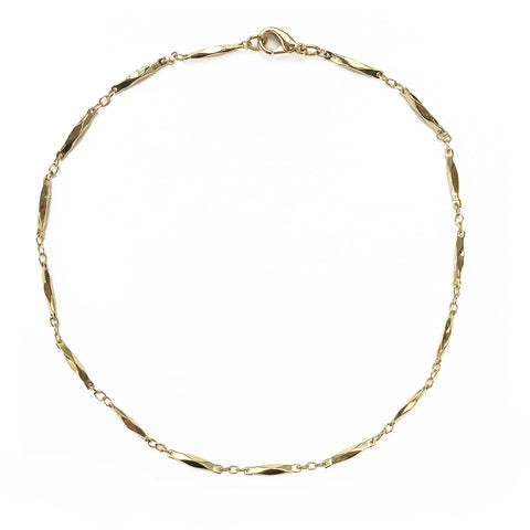 Gold Faceted Bar Choker