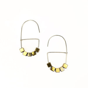 Sterling Silver and Gold Oval Hoops