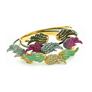 Gold and Turquoise Elvie Bangle