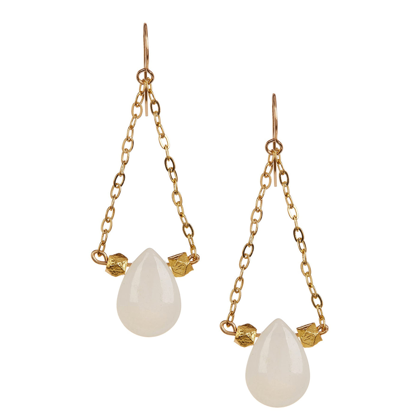 White Agate Chandelier Earrings