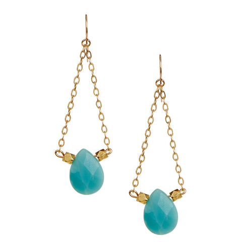 Amazonite Chandelier Earrings