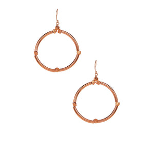 Rose Gold Sena Hoops