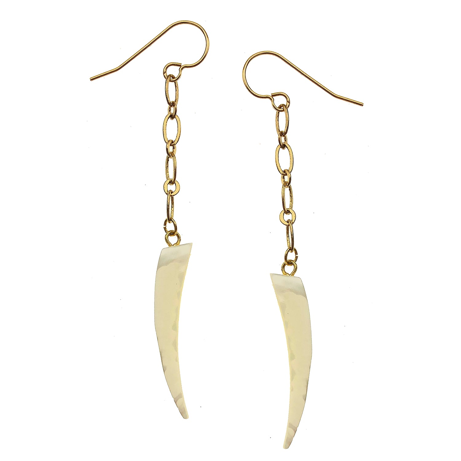 Pearlized Tusk Earrings
