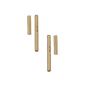 Gold Vermeil Barre Stud Earrings Set