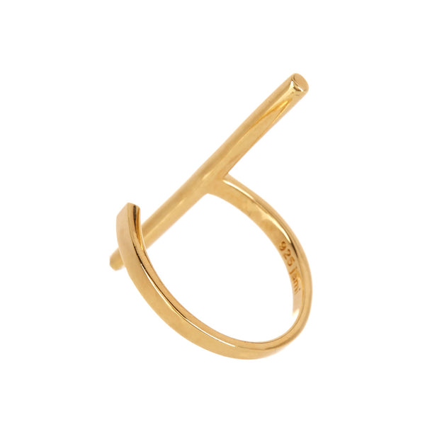 Gold Vermeil Barre Ring