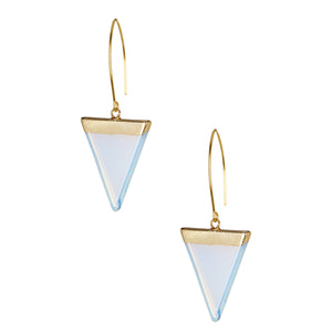 Opaline Triangle Fish Hooks