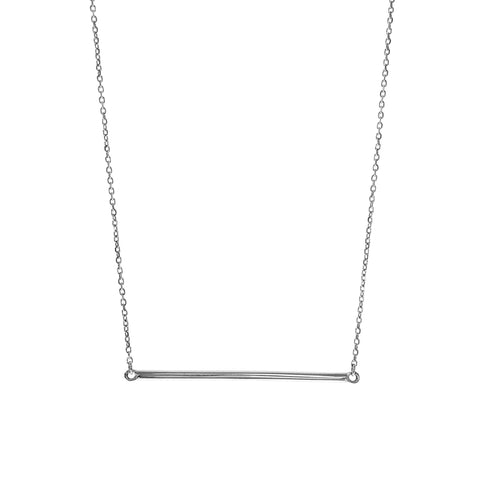 Silver Barre Pendant Necklace