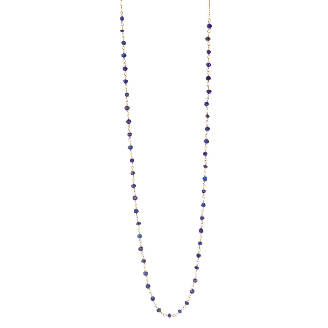 Lapis Beaded Layering Necklace